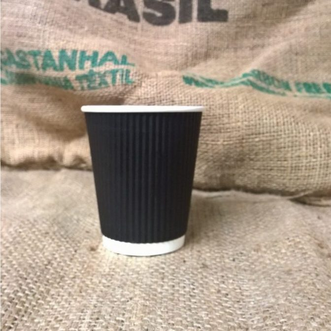 12oz Black Ripple Takeaway Coffee Cups