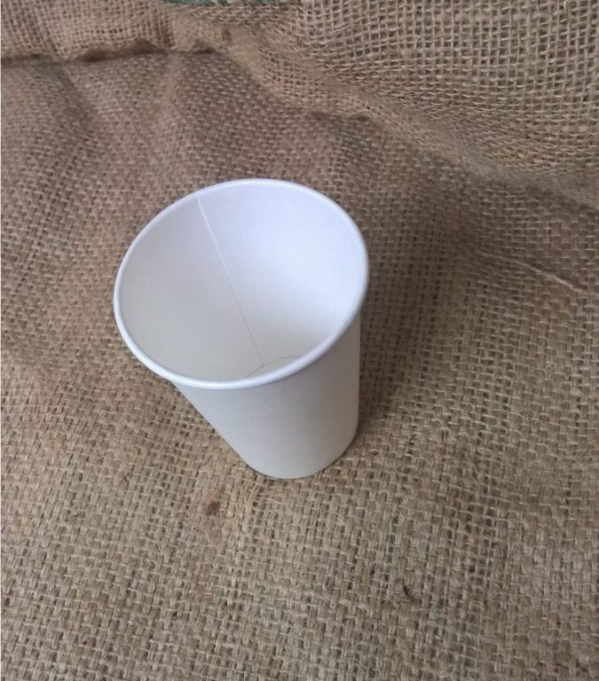 8oz Single Wall White Takeaway Cup