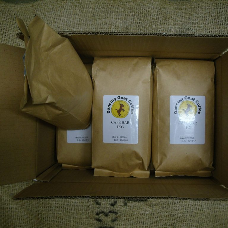 Case of 6x 1kg bags of Cafe Bar by Dancing Goat Coffee