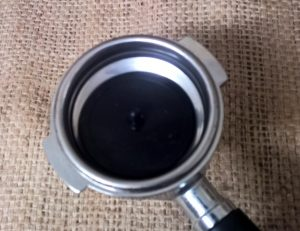Rubber Blanking Disc with Coffee Machine Group Handle