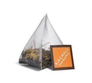 Birchall Green Tea and Peach Prism Tea Bag