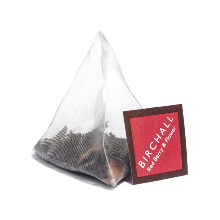 Birchall Red Berry and Flower Prism Tea Bag