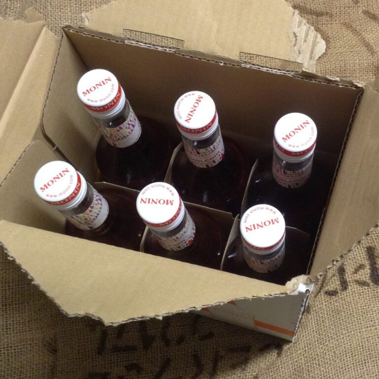 Case of Six Monin Mixed Flavoured Syrups