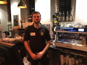Kris Ainsley from Dancing Goat Coffee at The Visit York Business Event