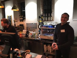 Ian Noble and Kris Ainsley from Dancing Goat Coffee